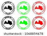 made in latvia   rubber stamp   ... | Shutterstock .eps vector #1068854678
