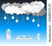 cloud computing background ... | Shutterstock .eps vector #1068855119