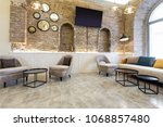 hotel lobby lounge cafe interior   Shutterstock . vector #1068857480