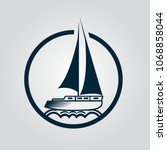 sailing ship  sailboat  old... | Shutterstock .eps vector #1068858044
