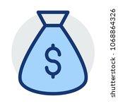 sack dollar money  | Shutterstock .eps vector #1068864326