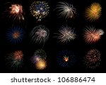 a collage collection of various ... | Shutterstock . vector #106886474