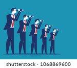 business vision. business team... | Shutterstock .eps vector #1068869600