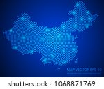 abstract image china map from... | Shutterstock .eps vector #1068871769