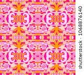 abstract seamless ornamental... | Shutterstock . vector #1068876140
