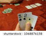 Small photo of Hole clubs cards Texas Hold'em poker home game