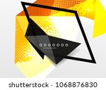 vector color geometric abstract ... | Shutterstock .eps vector #1068876830