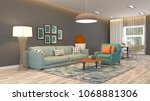 interior living room. 3d... | Shutterstock . vector #1068881306