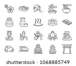 japan icon set. included the... | Shutterstock .eps vector #1068885749