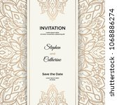 save the date invitation card... | Shutterstock .eps vector #1068886274