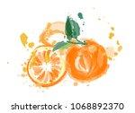 orange fruit vector...   Shutterstock .eps vector #1068892370