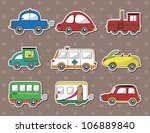 car stickers | Shutterstock .eps vector #106889840