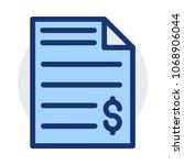 statement file  bill    Shutterstock .eps vector #1068906044