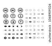 arrow icons vector illustration | Shutterstock .eps vector #1068909326