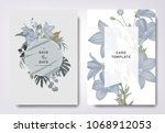 botanical wedding invitation... | Shutterstock .eps vector #1068912053