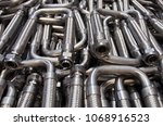hoses elbow pipes threaded...   Shutterstock . vector #1068916523