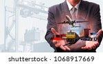 transportation  import export... | Shutterstock . vector #1068917669