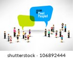 a large group of business... | Shutterstock .eps vector #106892444