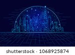 abstract technology background  ... | Shutterstock .eps vector #1068925874