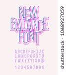 new balance original typeface... | Shutterstock .eps vector #1068927059