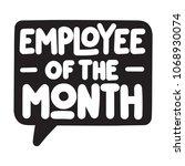 employee of the month. vector...   Shutterstock .eps vector #1068930074