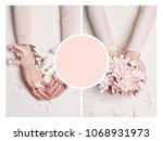 art collage mockup summer hand...   Shutterstock . vector #1068931973
