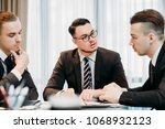 marketing department meeting.... | Shutterstock . vector #1068932123