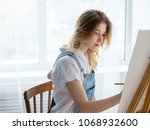art therapy. painting classes... | Shutterstock . vector #1068932600
