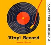 vinyl record music vector with... | Shutterstock .eps vector #1068932900