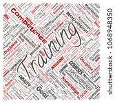 conceptual training  coaching...   Shutterstock . vector #1068948350