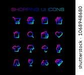 online shopping ui icons set...