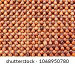 wooden beads mat background ... | Shutterstock . vector #1068950780