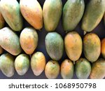 Pile Of Ripe Papayas For Sale...