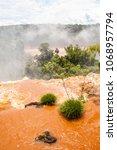 national park of iguazu falls ... | Shutterstock . vector #1068957794