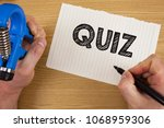 text sign showing quiz.... | Shutterstock . vector #1068959306