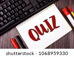 text sign showing quiz.... | Shutterstock . vector #1068959330