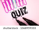 handwriting text quiz. concept... | Shutterstock . vector #1068959333