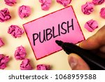 text sign showing publish.... | Shutterstock . vector #1068959588