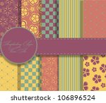 set of beautiful  paper for... | Shutterstock . vector #106896524