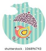 birds flying. vector. | Shutterstock .eps vector #106896743