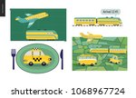 from point a to point b a set...   Shutterstock .eps vector #1068967724