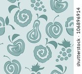 seamless pattern with delicious ... | Shutterstock .eps vector #106896914