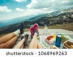 legs of traveler family | Shutterstock . vector #1068969263