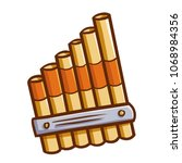 cute and funny pan flute for... | Shutterstock .eps vector #1068984356