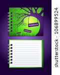 notebook with an illustration | Shutterstock .eps vector #106899524