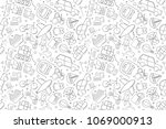 vector vehicle pattern. vehicle ... | Shutterstock .eps vector #1069000913