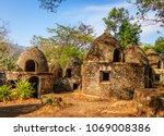 Small photo of Maharishi Mahesh Yogi Ashram (Beatles Ashram) in Rishikesh, Northern India