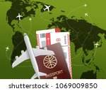 world travel concept. vector... | Shutterstock .eps vector #1069009850