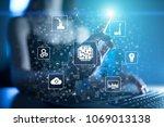 microchip  cpu  processor ... | Shutterstock . vector #1069013138