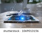 integration concept. industrial ... | Shutterstock . vector #1069013156